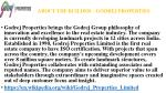about the builder godrej properties