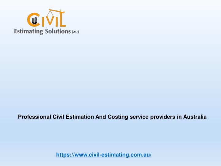 professional civil estimation and costing service n.