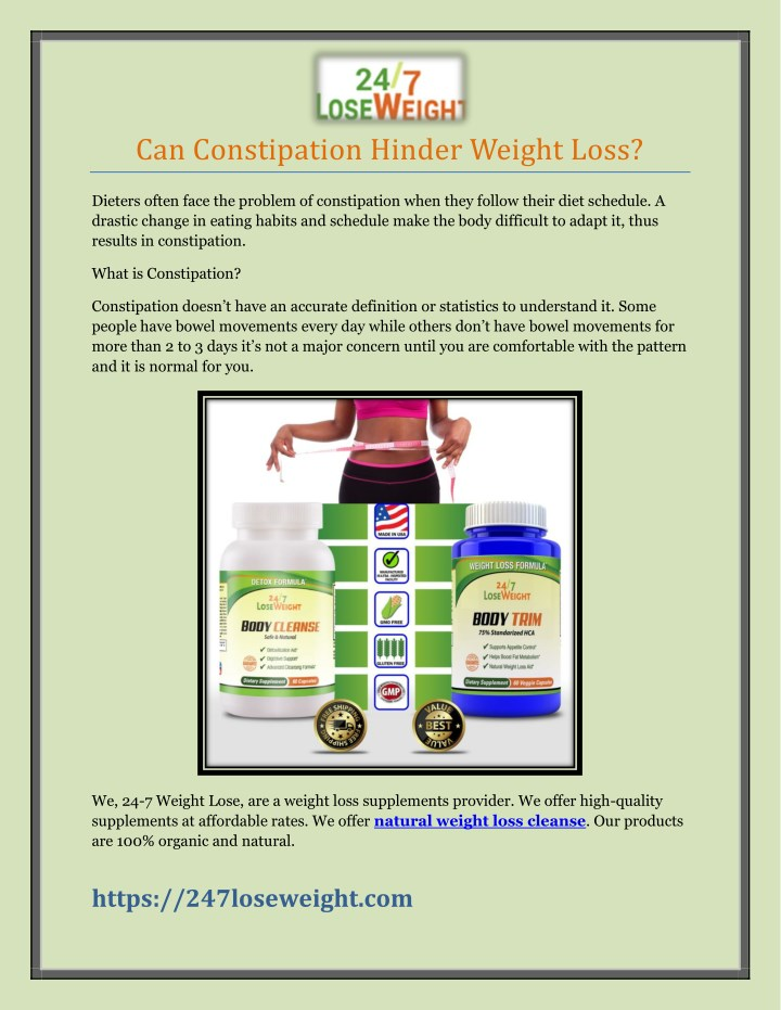 can constipation hinder weight loss n.