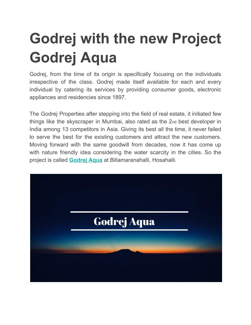 Godrej Property Bangalore