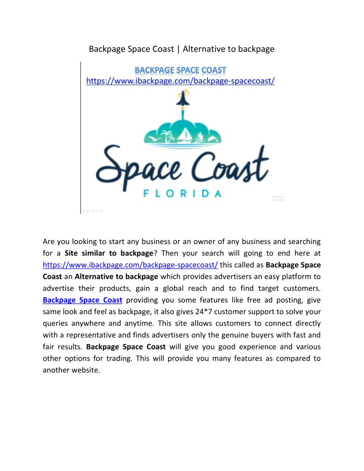 backpage space coast alternative to backpage n.