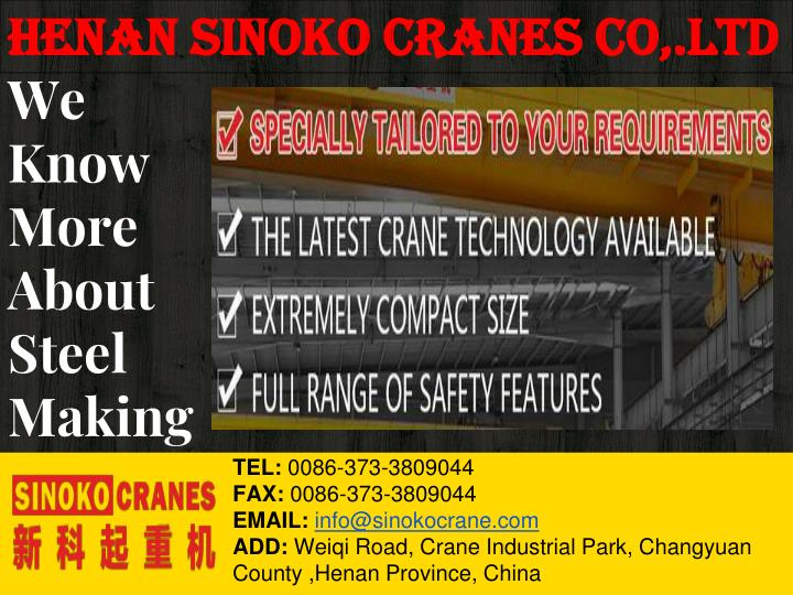 we know more about steel making n.