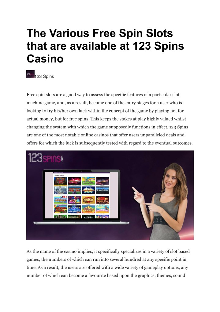 the various free spin slots that are available n.