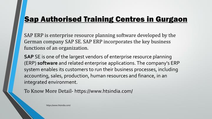 PPT - Sap Authorised Training Centres in Gurgaon PowerPoint