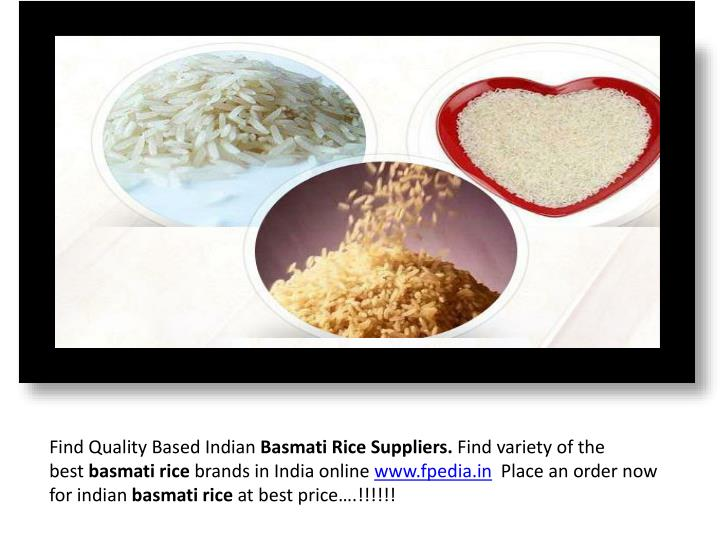 PPT - Indian Basmati rice suppliers PowerPoint Presentation