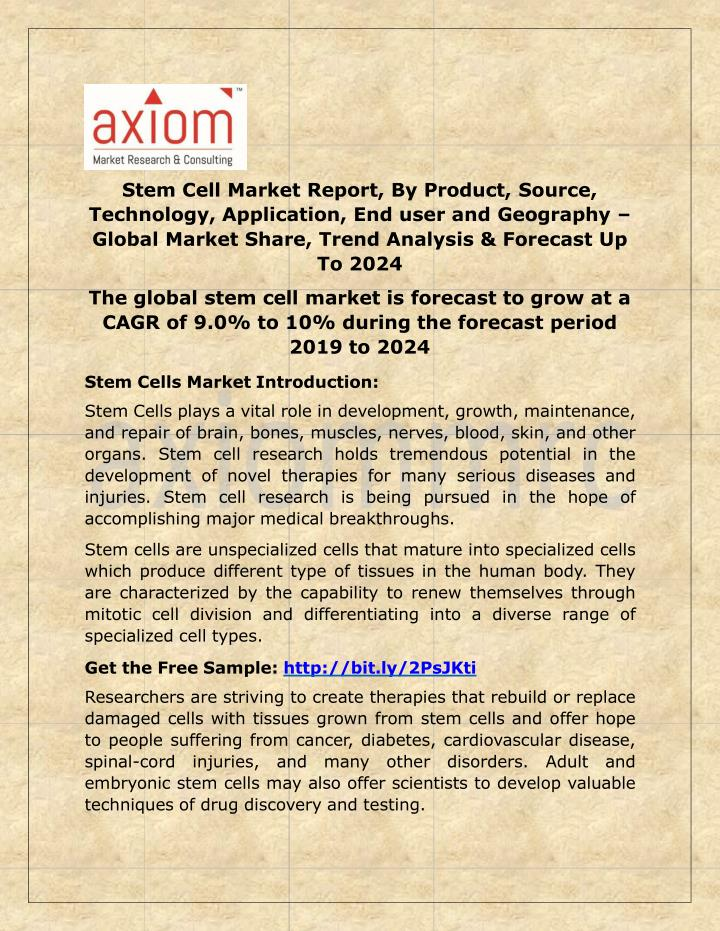stem cell market report by product source n.