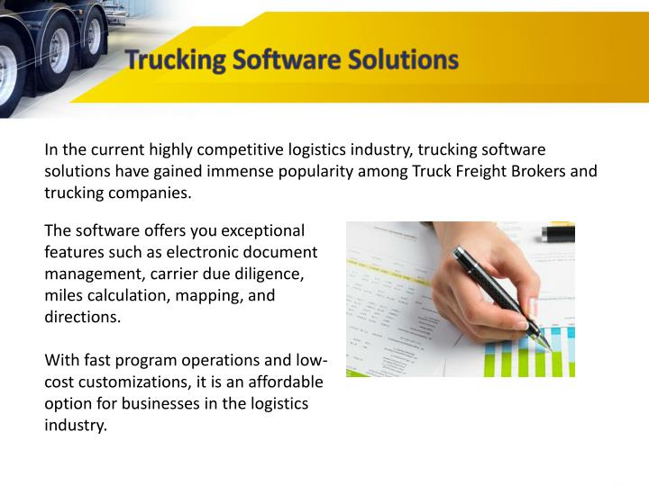 PPT - How Does Load Manager's Trucking Software Help Truck Freight