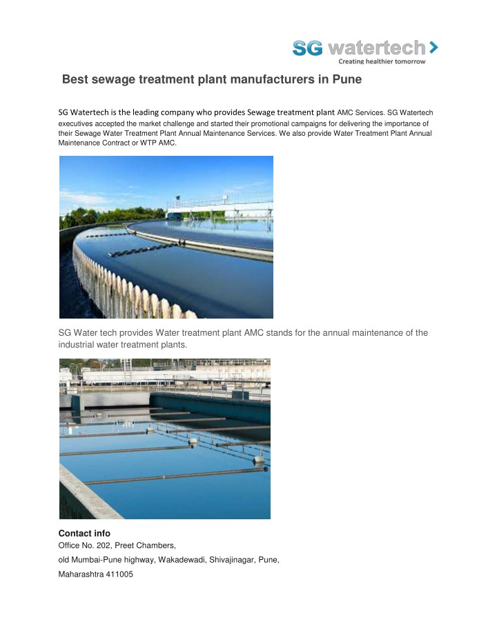 best sewage treatment plant manufacturers in pune n.