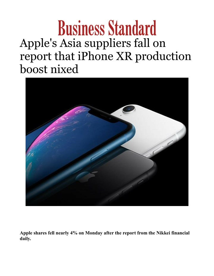 apple s asia suppliers fall on report that iphone n.
