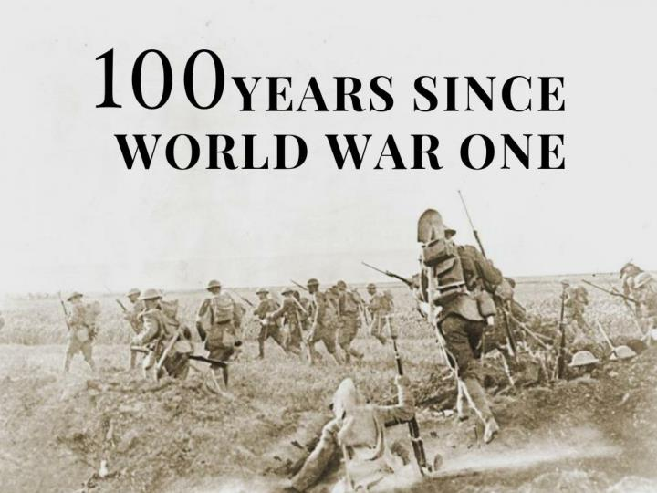 100 years since world war one n.