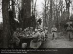 french troops from the rear guard eating lunch