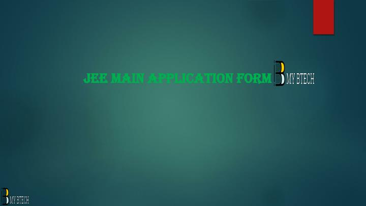 jee main application form n.