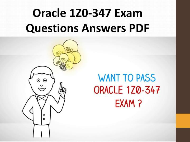 oracle 1z0 347 exam questions answers pdf n.