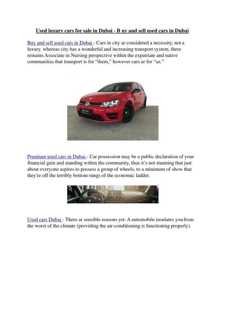 used luxury cars for sale in dubai b uy and sell n.