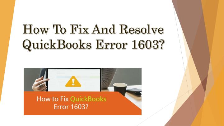 how to fix and resolve quickbooks error 1603 n.