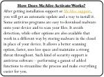 how does mcafee activate works after getting