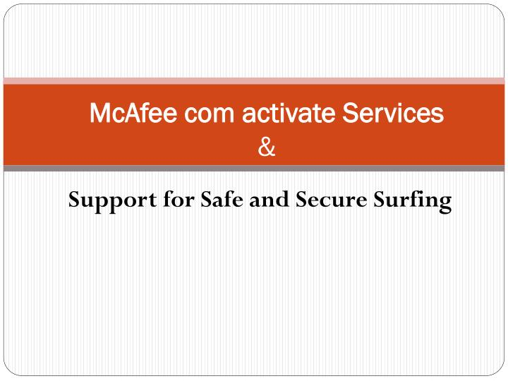 mcafee com activate services n.