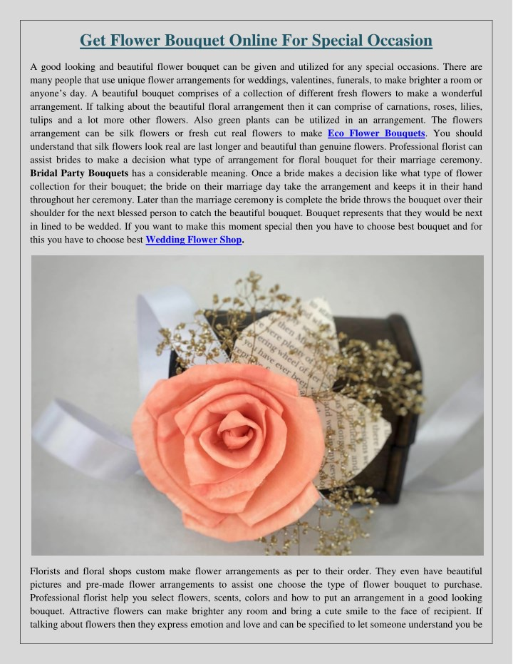 get flower bouquet online for special occasion n.