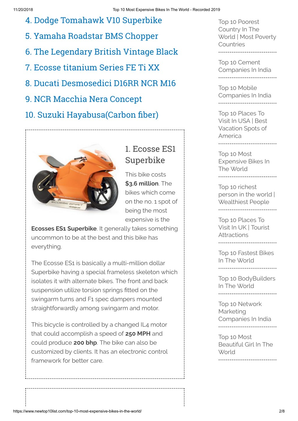 Ppt Top 10 Most Expensive Bikes In The World Powerpoint Presentation Id 8084773