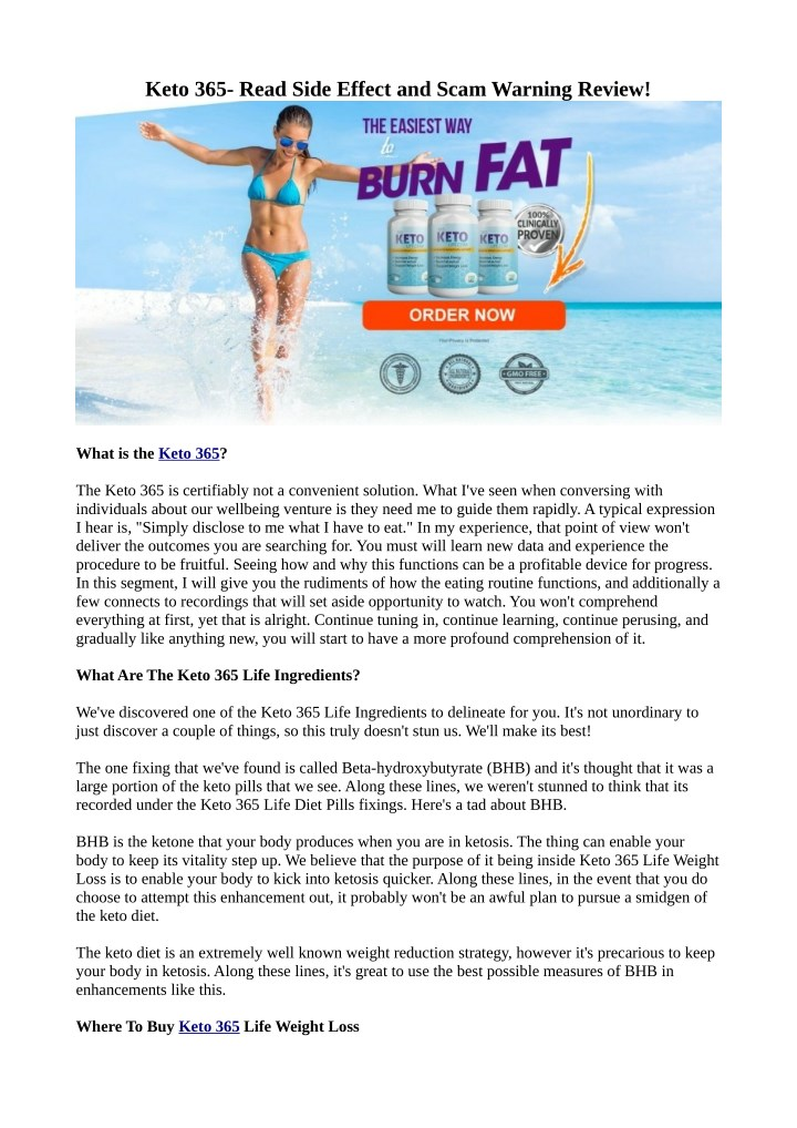keto 365 read side effect and scam warning review n.