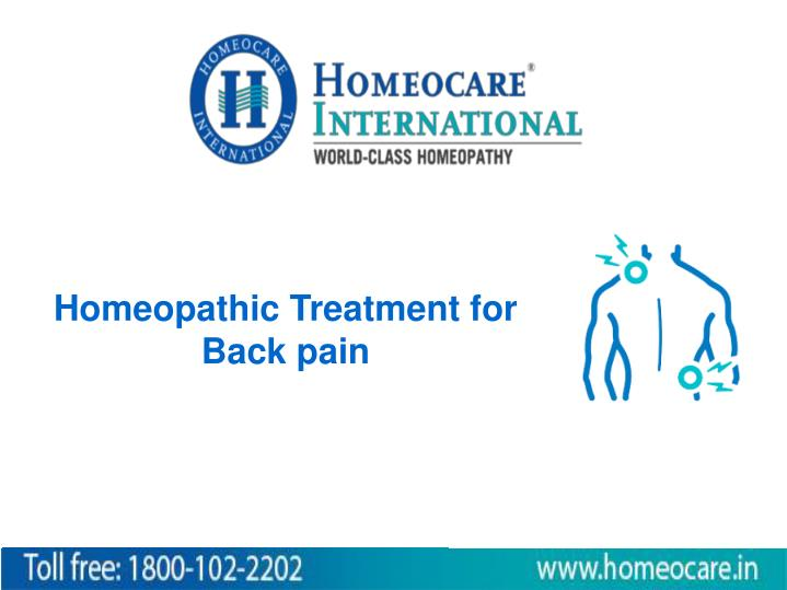 homeopathic treatment for back pain n.