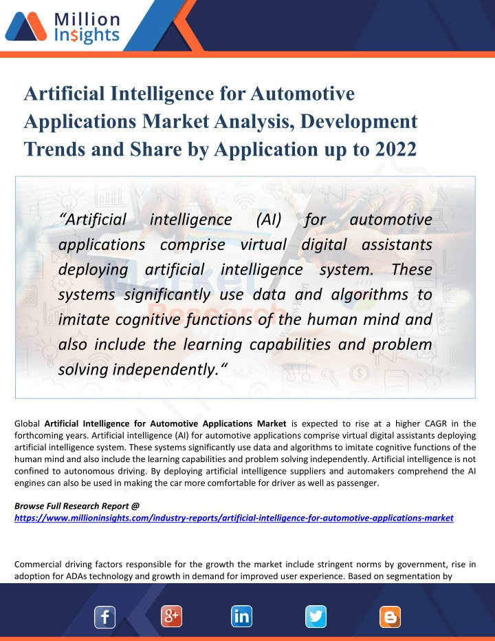 artificial intelligence for automotive n.