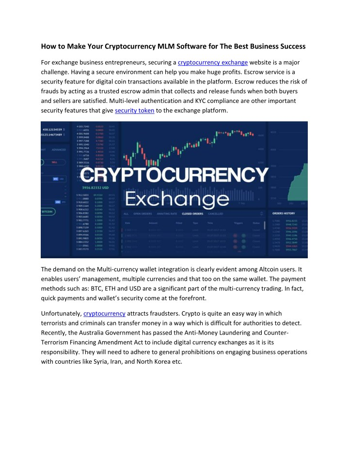 how to make your cryptocurrency mlm software n.