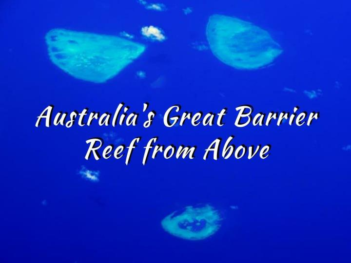 australia s great barrier reef from above n.