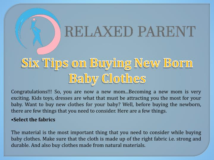 six tips on buying new born baby clothes n.