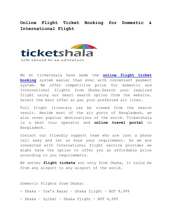 online flight ticket booking for domestic n.