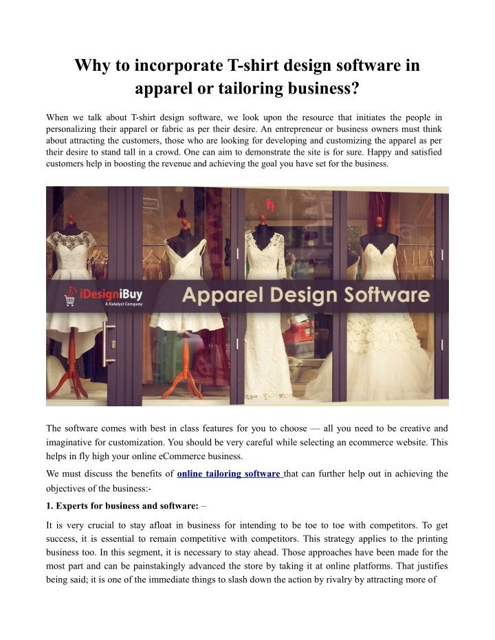 why to incorporate t shirt design software n.