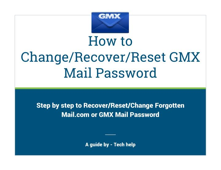 how to change recover reset gmx mail password n.