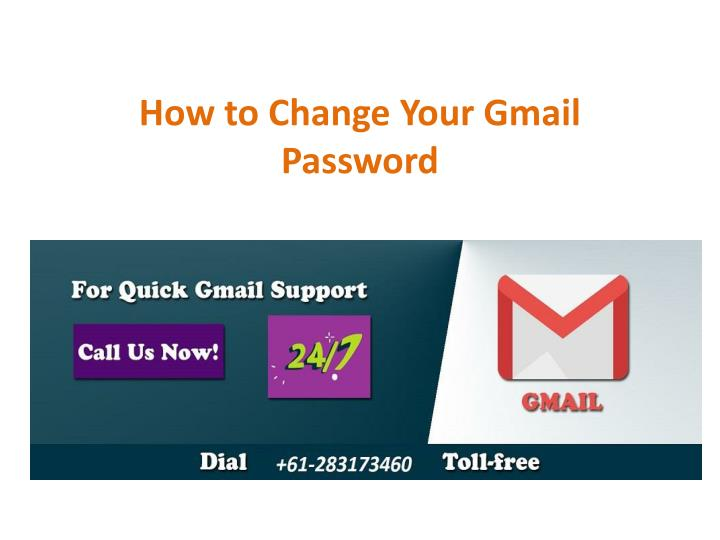 how to change your gmail password n.