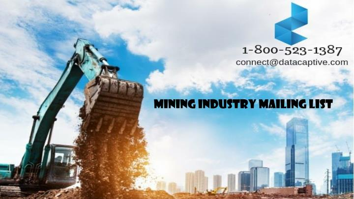 mining industry mailing list n.