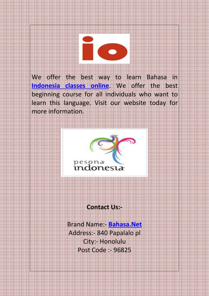 we offer the best way to learn bahasa n.