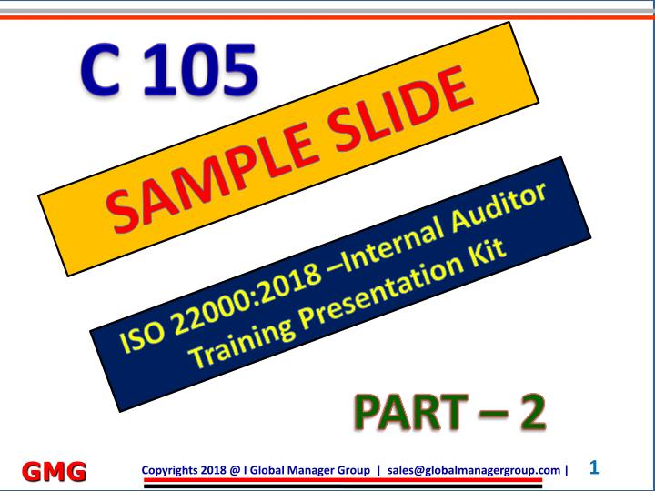PPT - ISO 22000 training PowerPoint Presentation - ID:8098795