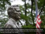 former president george h w bush pushed 1