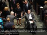 former president george h w bush pushed