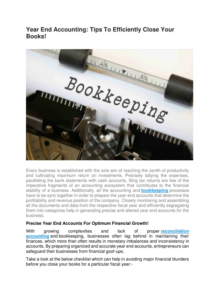 year end accounting tips to efficiently close n.