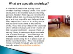 what are acoustic underlays
