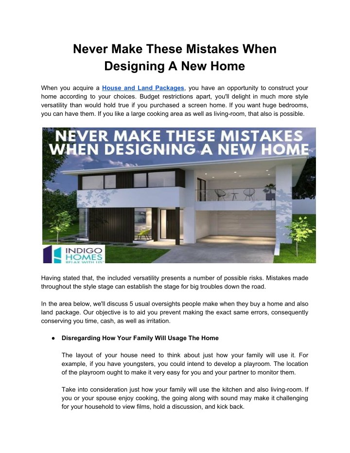 never make these mistakes when designing n.