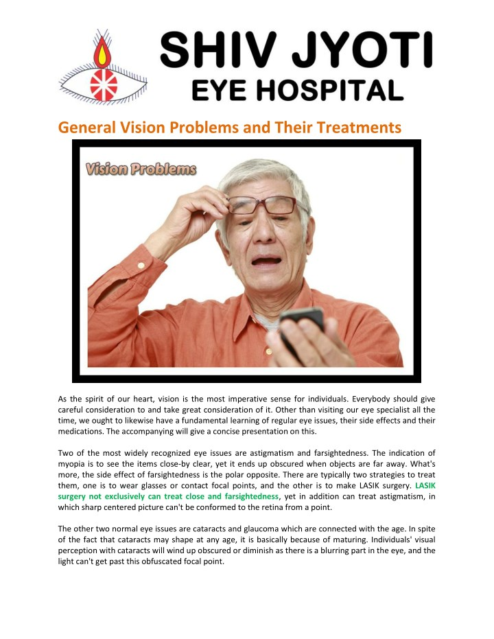 general vision problems and their treatments n.