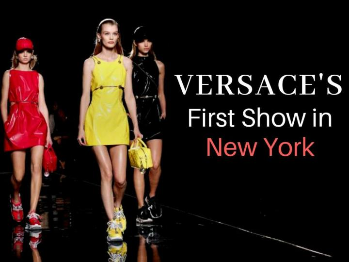 versace s first show in new york n.