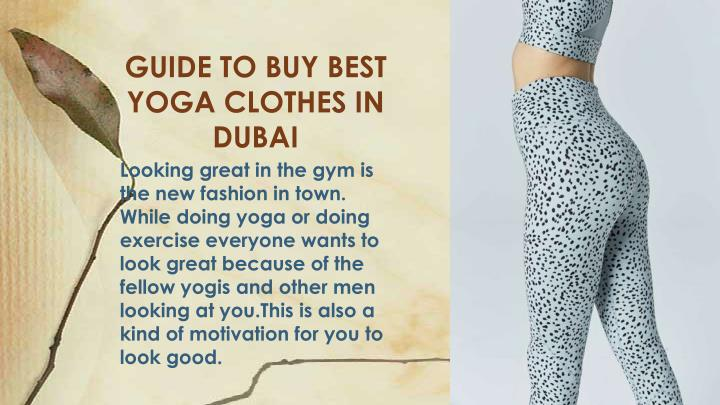 guide to buy best yoga clothes in dubai n.