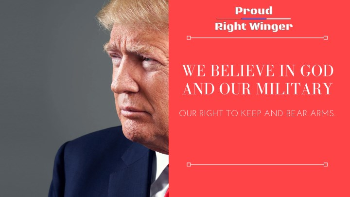 we believe in god and our military n.