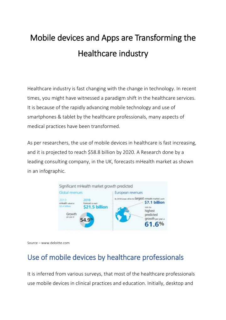 mobile devices and apps are transforming n.