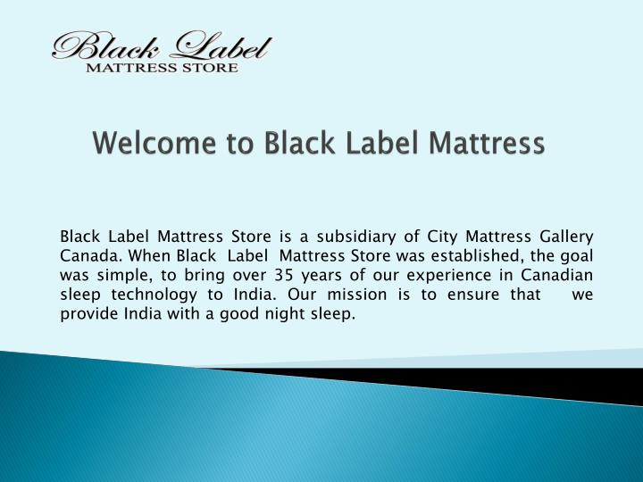 welcome to black label mattress n.