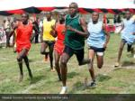 maasai morans compete during the 5000m race