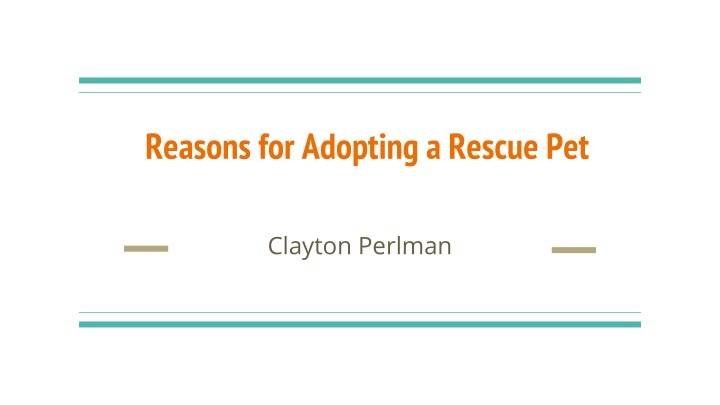 reasons for adopting a rescue pet n.