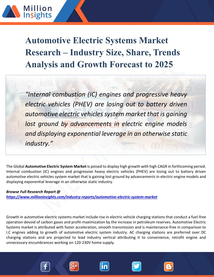 automotive electric systems market research n.